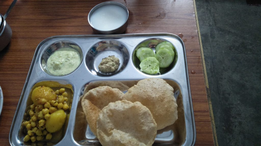 food cuisine of kumaon chole poori in Nainital by premier outlook